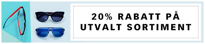 20% rabatt p� utvalt sortiment v�lj bland v�rens hetaste varum�rken